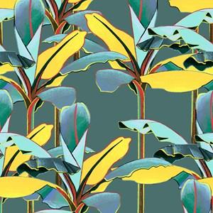 Painel de Parede Folhagens Sonhos I Verde e Amarelo