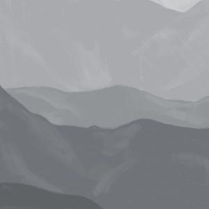 Painel Montanhas Degradê Cinza