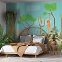 Painel Selva de Mogli Azul e Verde