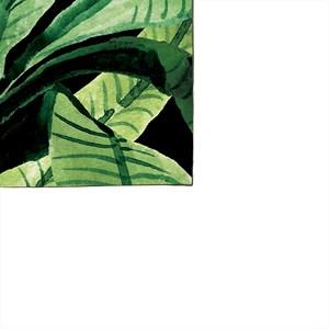 Pano de Prato Paisagem tropical Verde e Preto