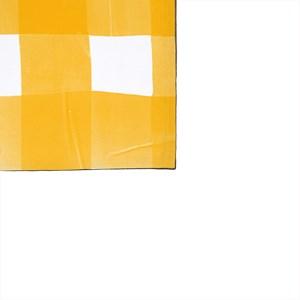 Pano de Prato Piquenique Amarelo e Branco