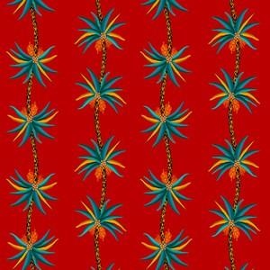 Papel de Parede Amor Selvagem Vermelho e Azul