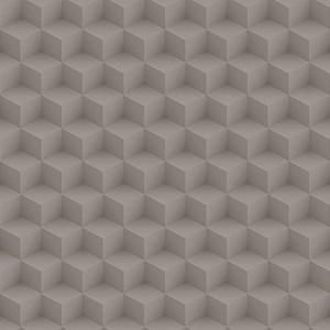 Papel de Parede Cubos Escher Marrom