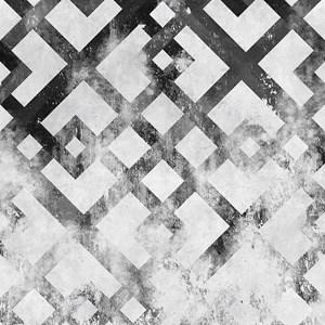 Papel de Parede Geométrico Desgastado Preto e Cinza