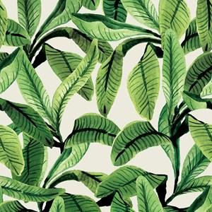 Papel de Parede Paisagem tropical Verde e Bege I