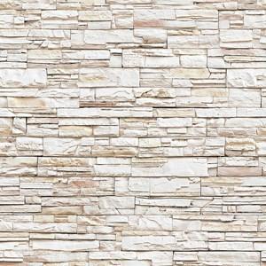 Papel de Parede Pedras Marrom e Branco