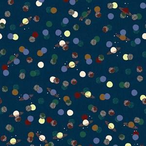 Papel de Parede Planetas Bege e Azul