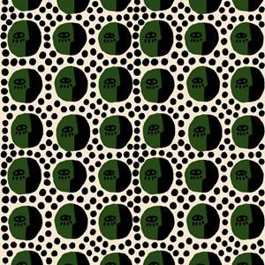 Papel de Parede Rostinhos Pattern Verde e Preto