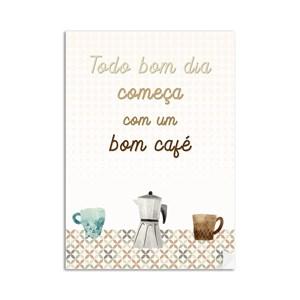 Poster Café Laranja e Azul