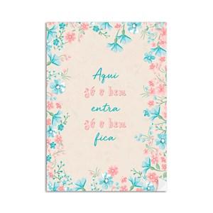 Poster Clássico Moderno Frases I Rosa e Azul
