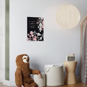 Poster Clássico Moderno Frases II Rosa e Branco