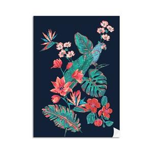 Poster Flor de Arara Azul e Azul Marinho