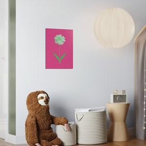 Poster Floral Psicodélico Rosa e Verde I