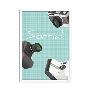 Poster Pixel Art Fotografia I Verde e Cinza
