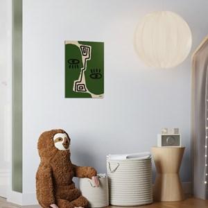 Poster Rostinhos I Verde e Preto