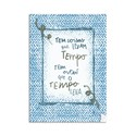 Poster Rustic Frases Azul