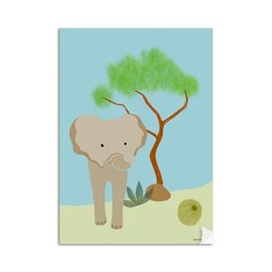 Poster Selva de Mogli Azul e Verde I