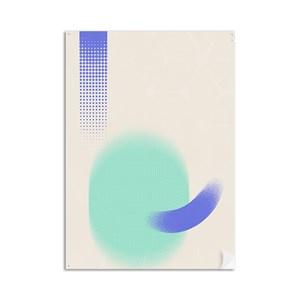 Poster Serigrafia Azul e Verde