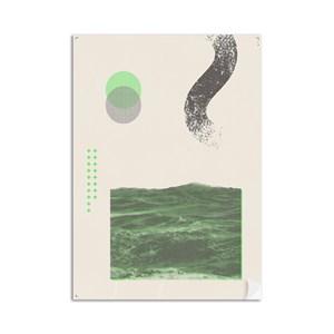 Poster Serigrafia Verde e Cinza
