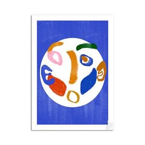 Poster Tela Azul Azul e Branco