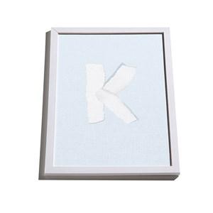 Quadro ABC Azul e Branco K