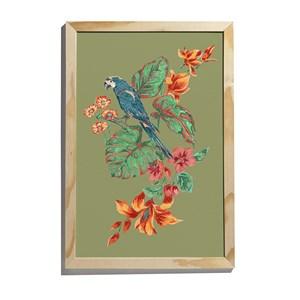 Quadro Flor de Arara II Verde e Amarelo