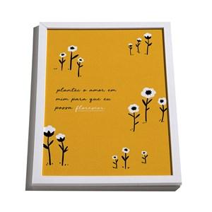 Quadro Floresta Colorida Amarelo