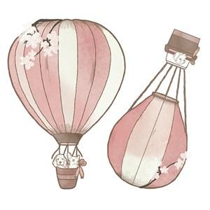 Sticker Balões Rosa I