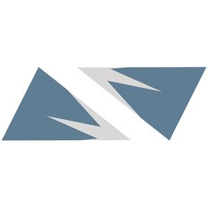 Sticker Montanhas Gráficas Azul e Cinza III