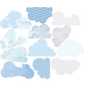 Sticker Nuvens Azul e Azul Marinho